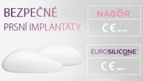 Bezpečné implantáty NAGOR a EUROSILICONE