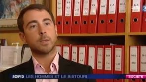 La chirurgie esthétique et les hommes - JT France 3