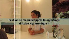 Peut-on se maquiller après une injection d'acide hyaluronique ?