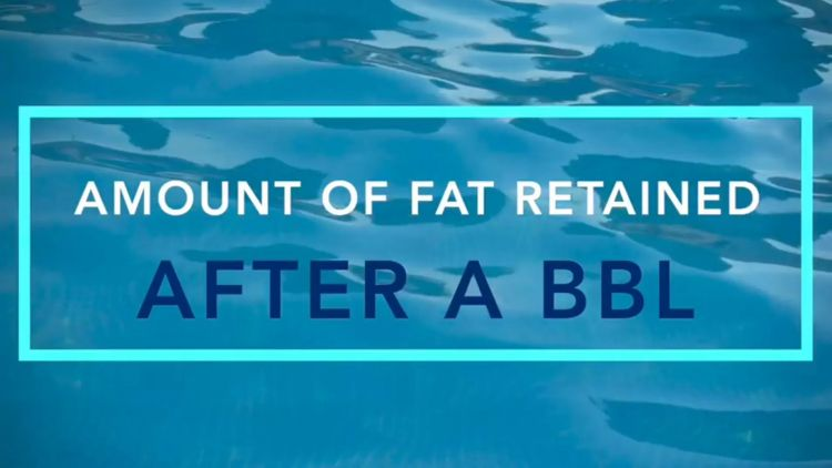 How much fat will stay after BBL?