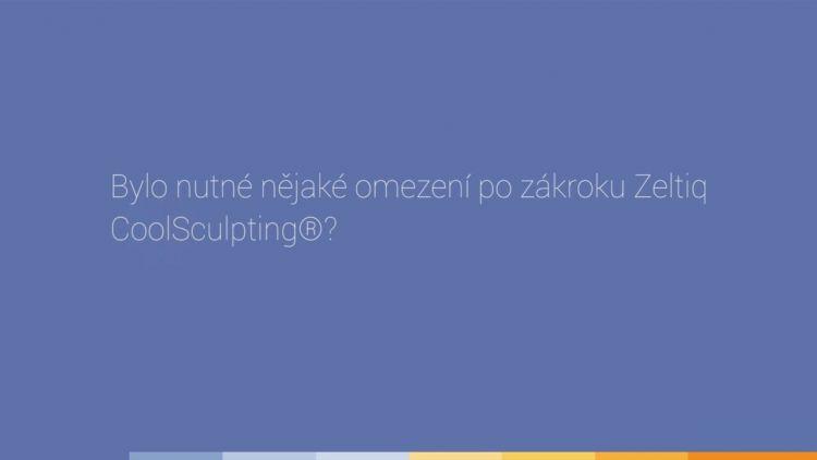 Zkušenost pacienta s kryolipolýzou Zeltiq Coolsculpting®